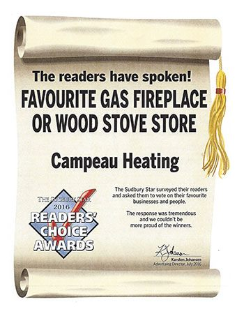 Readers Choice Awards Favourite Gas Fireplace or Wood Stove Store