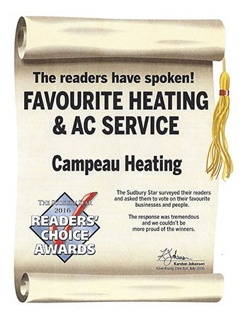 Readers Choice Awards Favourite Heating And AC Service