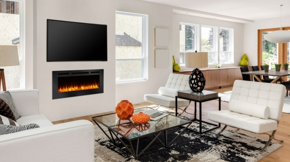 "Click to view 84"" ALLUSION RECESSED LINEAR ELECTRIC FIREPLACE"