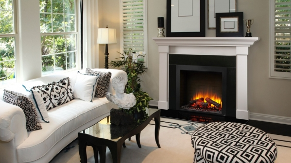 "Click to view 30"" SIMPLIFIRE BUILT-IN ELECTRIC FIREPLACE"