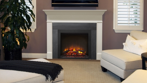 "Click to view 36"" SIMPLIFIRE BUILT-IN ELECTRIC FIREPLACE"