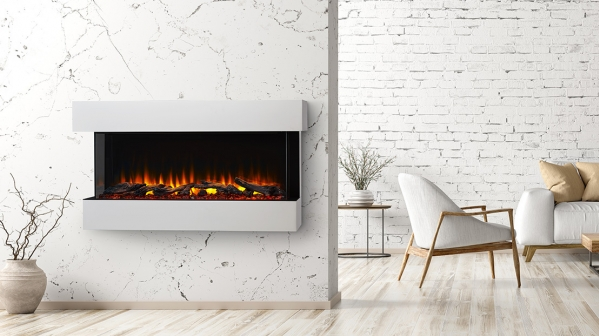 "Click to view 55"" SCION LINEAR BAY ELECTRIC FIREPLACE"