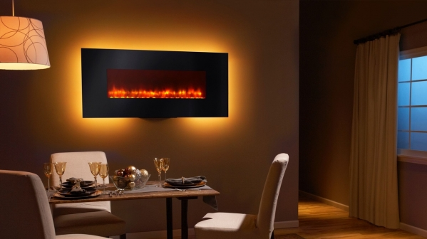 "Click to view 58"" WALL MOUNT ELECTRIC FIREPLACE"
